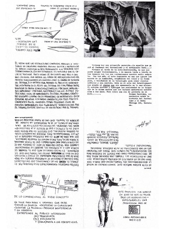 Visión interna del catalogo de la exposición de Xalapa