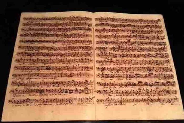 Partitura de la Misa en si menor, Buchmuseum, Dresden