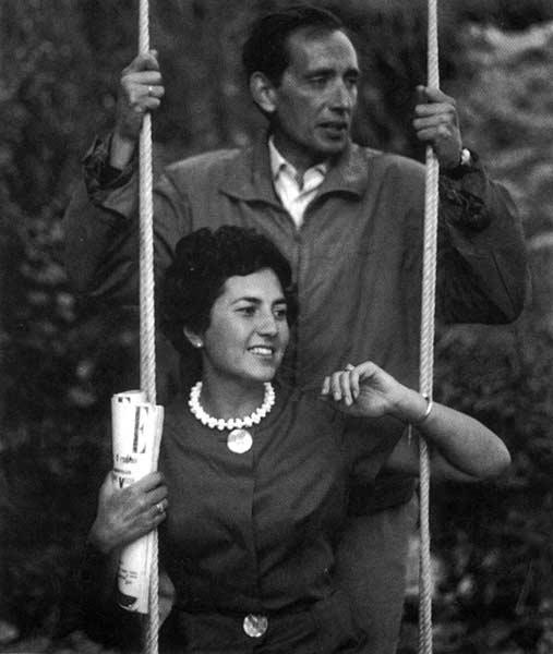 Miguel Delibes y Ángeles Castro