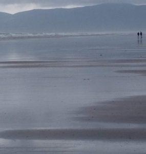 Esperando a Sarah MIles en la playa de Inch 6