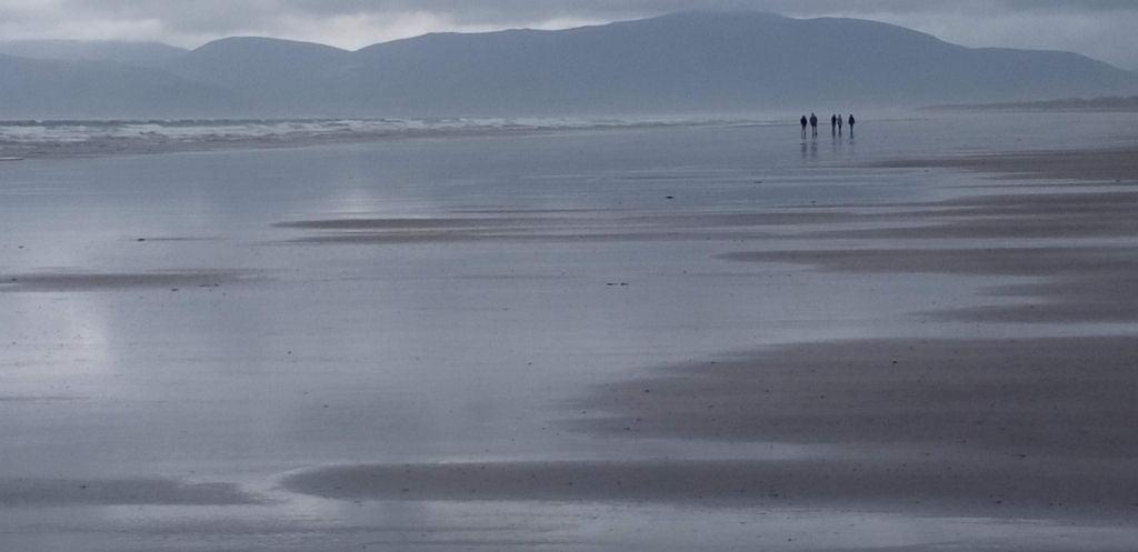 Esperando a Sarah MIles en la playa de Inch 1