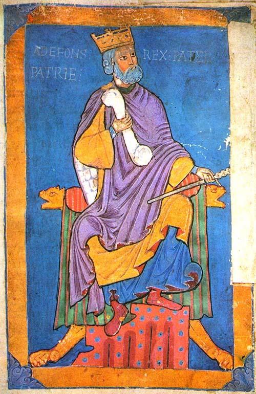 Alfonso VI- miniatura siglo XI