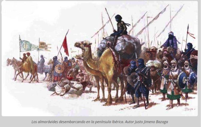 Almorávides desembarcan en al-Andalus (Justo Jimeno)