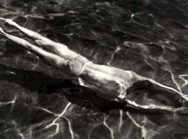 «Nadador bajo el agua», de André Kertész