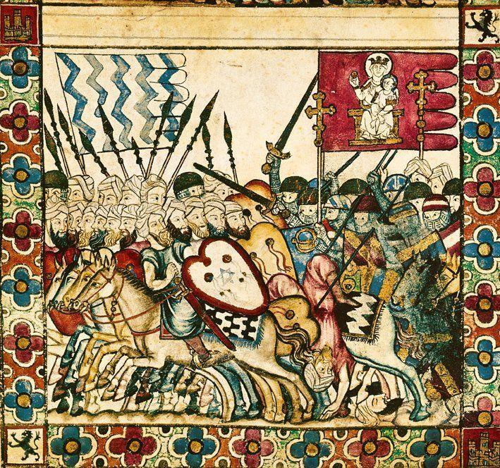 Bandera rayas azules benimerines batalla Salado