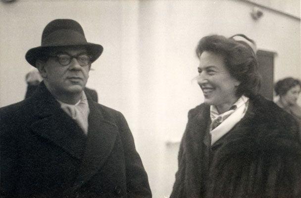 Berlin con su mujer Aline