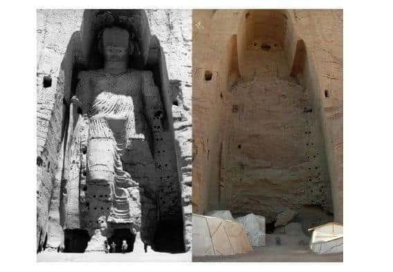 Budas de Bamiyán (antes y después)