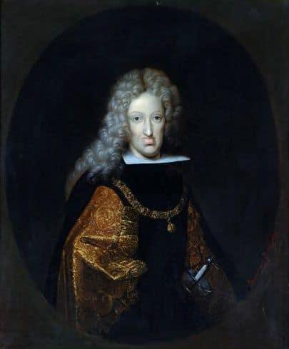 Carlos II el Hechizado óleo de Humer