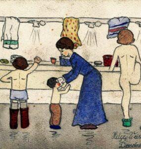 Dibujo de Helga Weiss