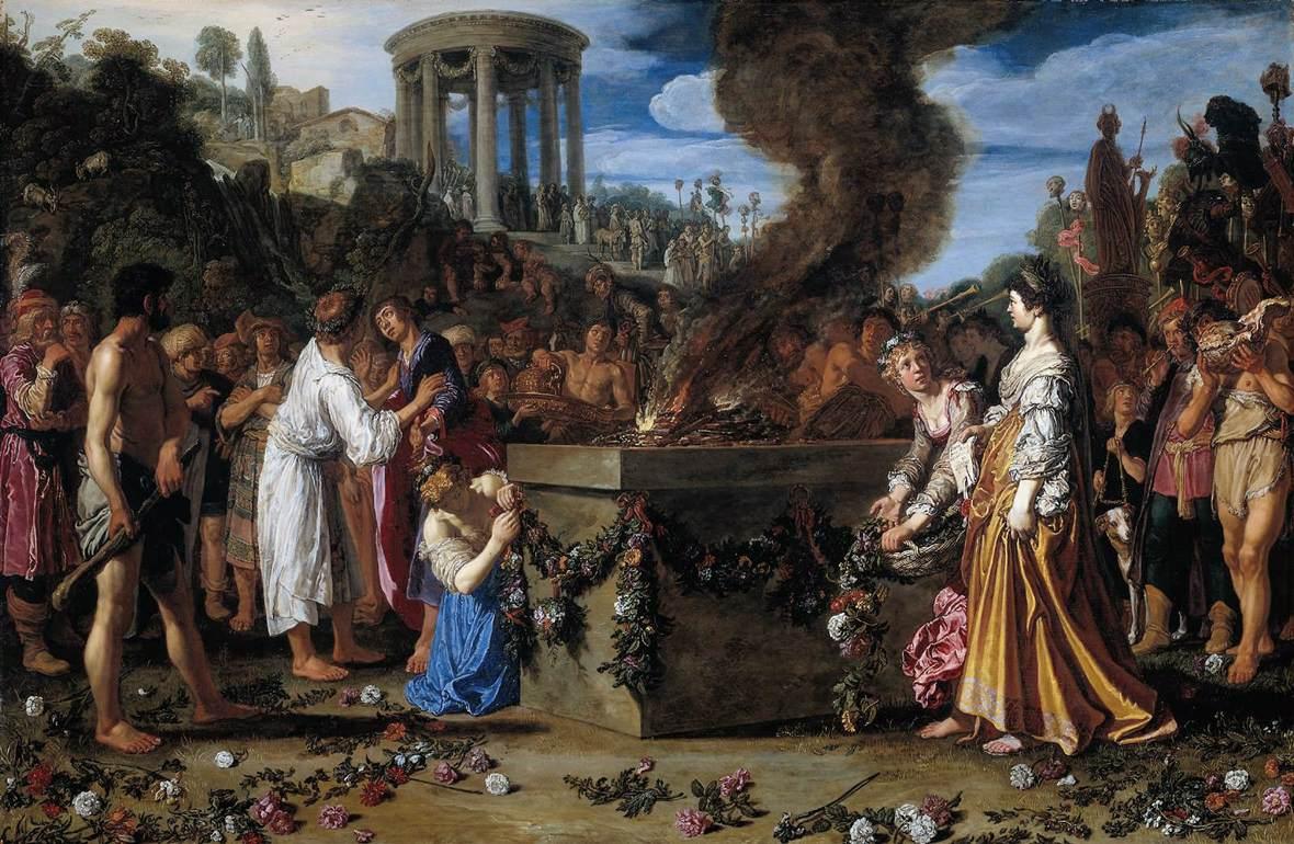 El sacrificio de Ifigenia de Pieter Pietersz