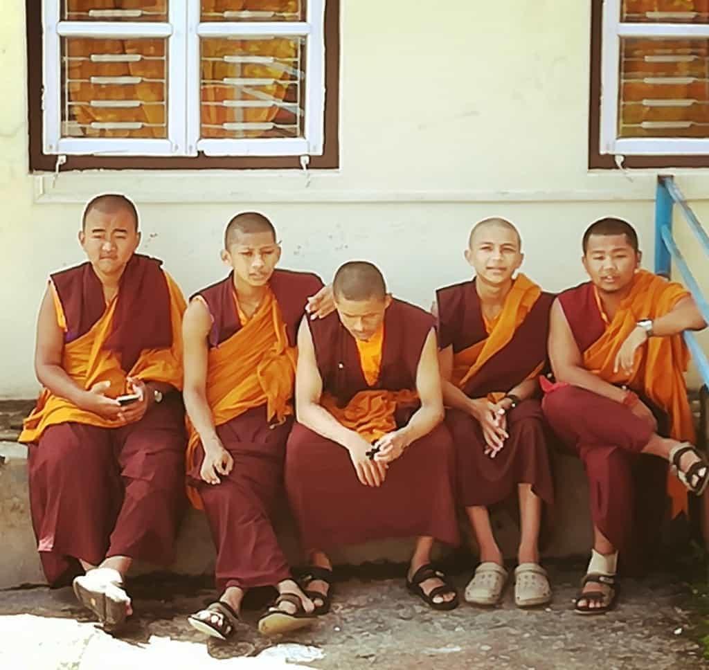 En el campo de refugiados tibetanos, Pokhara