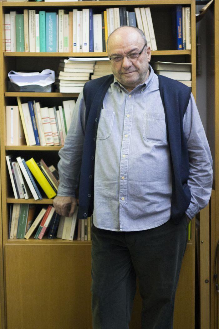Raffaele Pinto en su despacho de la universidad