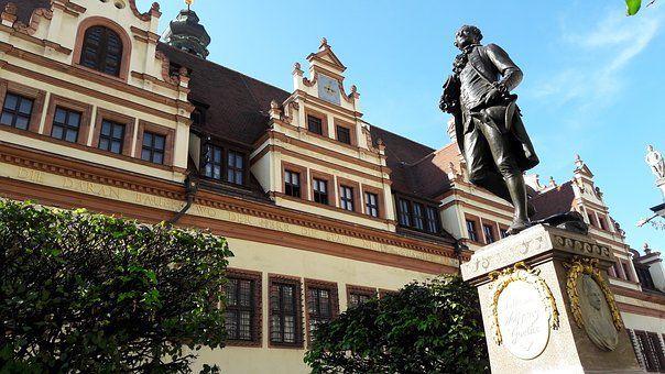 Estatua de Goethe en Leipzig
