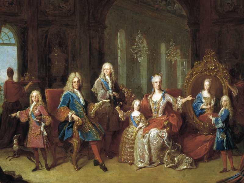 Felipe V junto a Isabel de Farnesio