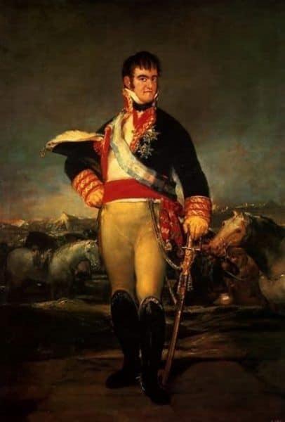 Fernando VII pintado por GOYA
