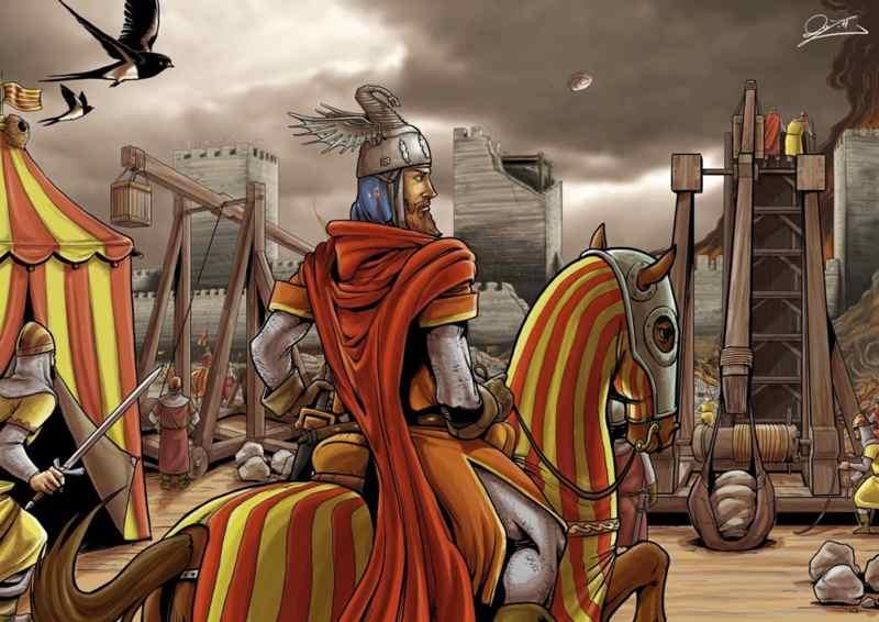 Jaime I en el asedio de Valencia-juansamuhomec