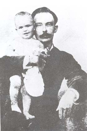 José Martí y su hijo José Francisco, más conocido como Ismaelillo