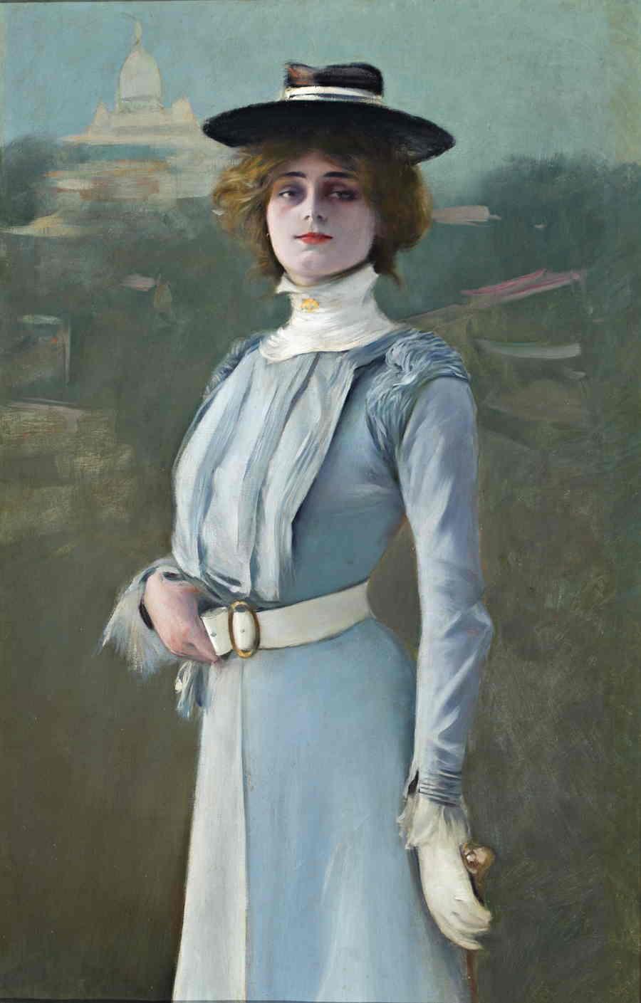 La modelo. 1900