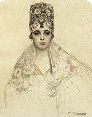Manola con mantilla. 1915