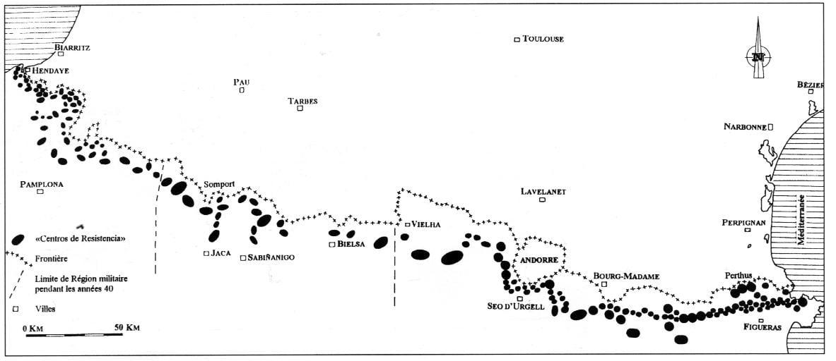 Mapa La línea P