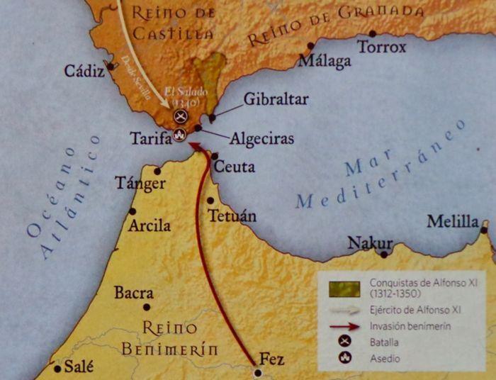 mapa de sultanato benimerín reino Granada