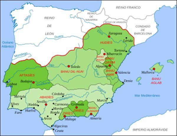 Península ibérica en 1080